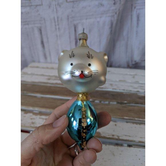 Italian glass bear mouse de carlini ? ornament Xma